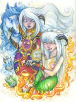 Dava and Aanya - For Manna by BlackAngel-Diana