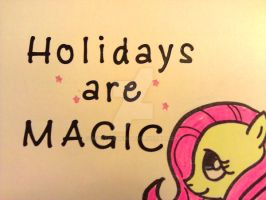 Fluttershy Christmas Card by MysticEden