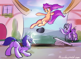 Scootboarding by Littleivy25