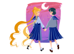 Sailor Moon - Usagi and Ami by NadeRegen