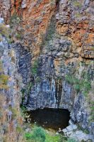 Morialta First Falls in Summer by Simon-Hunt