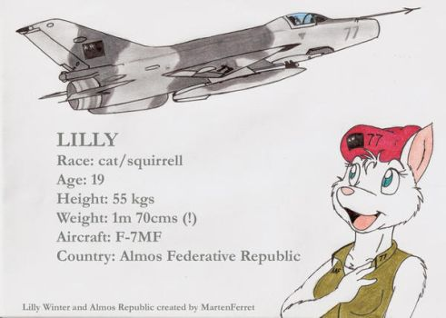 Lilly and her F-7M by DingoPatagonico