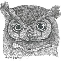 Great horned owl by Malice-InWonderland