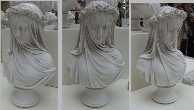Veiled Bust (3 angles) by fuguestock