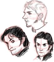 Guy and Allan sketches by cesca-specs