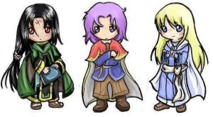 Soren, Erk and Lucius by Littling
