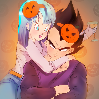 HAPPY LATE HALLOWEEN! xD by longlovevegeta