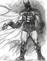 Batman Commission Sketch by SuperPoser