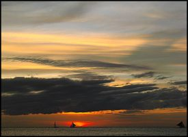 Boracay sunset 2 by SOLshie