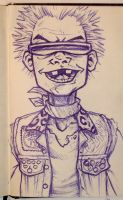 Sketch Bk. Pogo Punk Boy! by Trashe-Trav