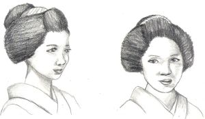 Quick maiko sketches by KatyCrayon