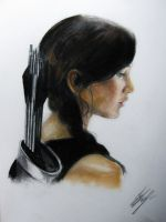 Katniss The Hunter Games catching fire by kssu24