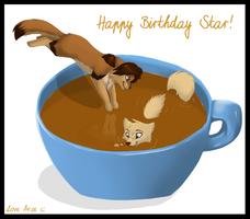 A Nice Cuppa' Star by Spottedfire94