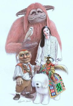 LABYRINTH Main characters Henson Bowie Froud by Skulpturen