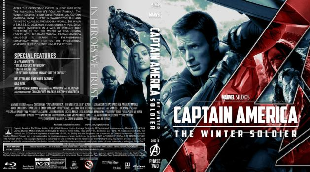 CAPTAIN AMERICA THE WINTER SOLDIER  BLU-RAY by MrPacinoHead