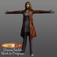 3D Donna Noble WIP by silentrepose