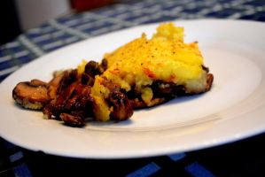 Vegan Mushroom casserole with potato cover by Sintorion