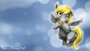 Have a Derpy Wallpaper (widescreen) by slifertheskydragon
