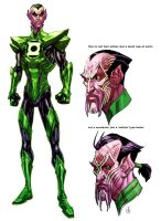 Green Lantern's Sintestro by Chuckdee