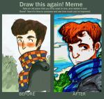 Draw It Again Meme John Fanart by Evangeline-chan