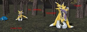ling makes renamon faint by NyinxDeLune