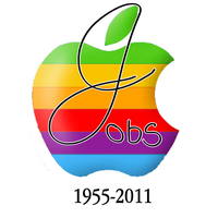 Steve Jobs Colorful Tribute by 8bitDerp