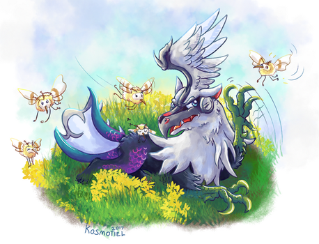 Silvally tries to take a nap by Kosmotiel