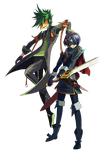Masked Warriors: Sync and Lucina by Daboya