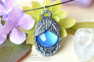 Fantasy Magical Amulet | Polymer clay necklace by Crystarbor