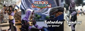 HeroesCon 2015 Roster by TaliBelle-Cosplay