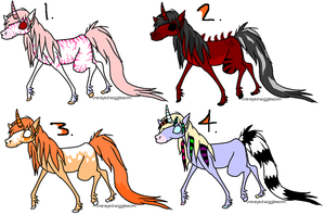 Unicorn Pointables by freaking-adopts