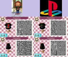 Playstation shirt QR Codes by fullmetalninja92