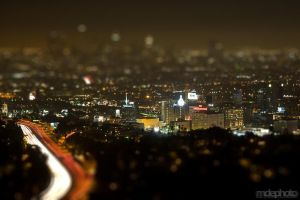Miniture Hollywood @ Night by mdephoto