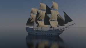 Sailing ship WIP 1 by forgedOrder