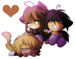 Fabulous Chibi Threesome Ship by Angel0F-Electricity
