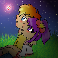 Red Clock within the Stars by MimiTheFox