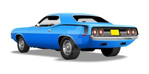 Blue 'Cuda by CRWPitman