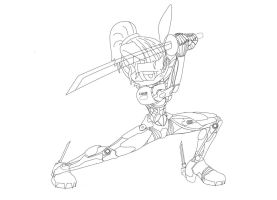 Bunnie Rabbot like Raiden (sketch) by 13legion13legion