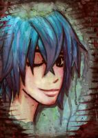 blue haired boy by WickedHearts4Lyph