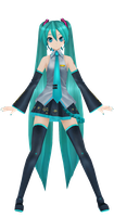 Project diva f model MMD by Danthrox