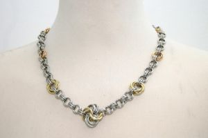 Stainless and Brass Necklace by Utopia-Armoury
