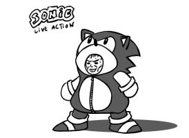Sonic Live Action by BG87