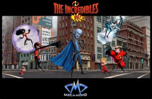 Incredibles vs MegaMind by Aradrath