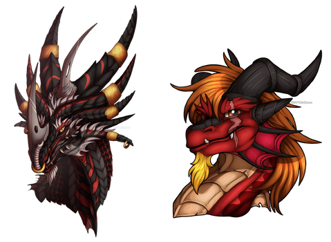 Commission : Durg Busts by WeirdHyenas