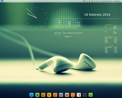 Xfce, Conky and CoverGloobus. by karmaline