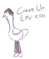 Cheer Up Emu Kid by Sorcyress