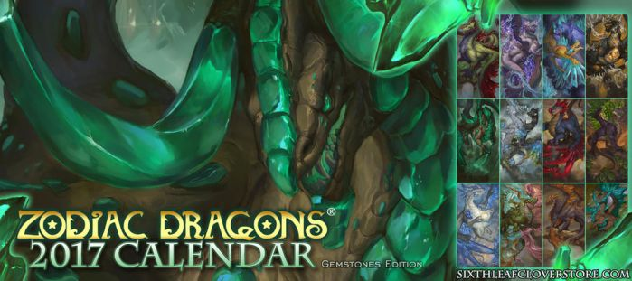 Zodiac Dragons Calendar The 2017 Gemstone Edition by The-SixthLeafClover