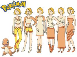 Pokemon fashion: Charmander by Willemijn1991