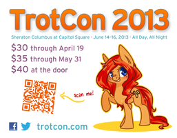TrotCon 2013 Quarter-Page Flyer #1 by TrotCon