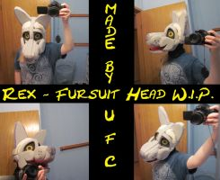 Rex - Fursuit Head WIP by PeaceWolfCreations